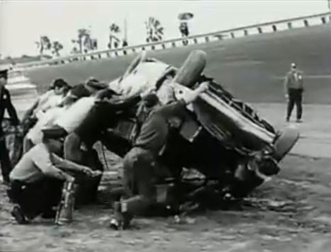 Auto Racing Crash on That Featured    The Most Fantastic Pile Up In Auto Racing History