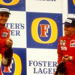 Prost celebrates with Johansson