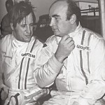 Tony with team mate David Piper