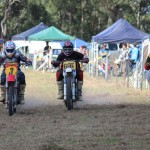 Carl grabs the holeshot