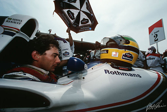 Senna on the grid Imola 1994
