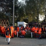 10014 the Unsung heroes of our sport the Marshals gather for a breakfast bacon butty on Sunday morning