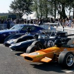 10748 some of the cars in the Dan Gurney tribute parade