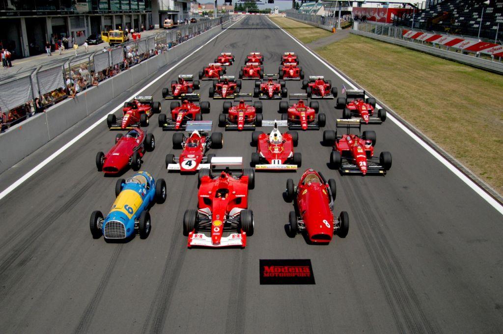 Ferrari F1 line up
