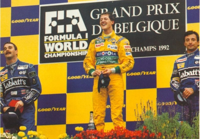 1992 Spa podium Galleria IT