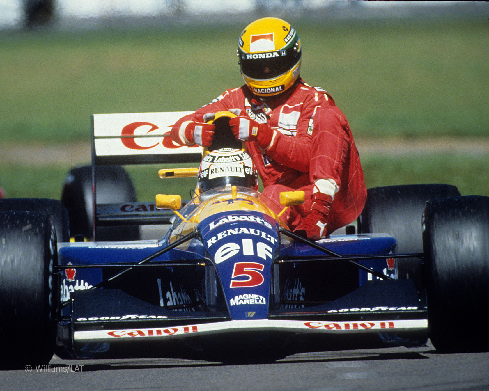 1991 - Ayrton Senna and Nigel Mansell
